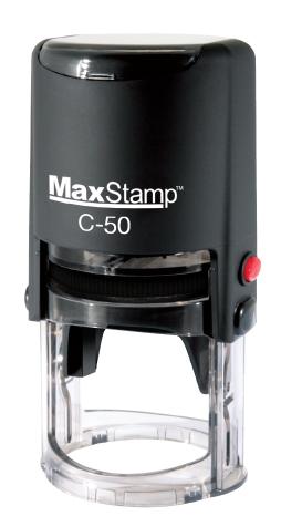 max stamp c50 round self inking stamp richmond va custom stampers