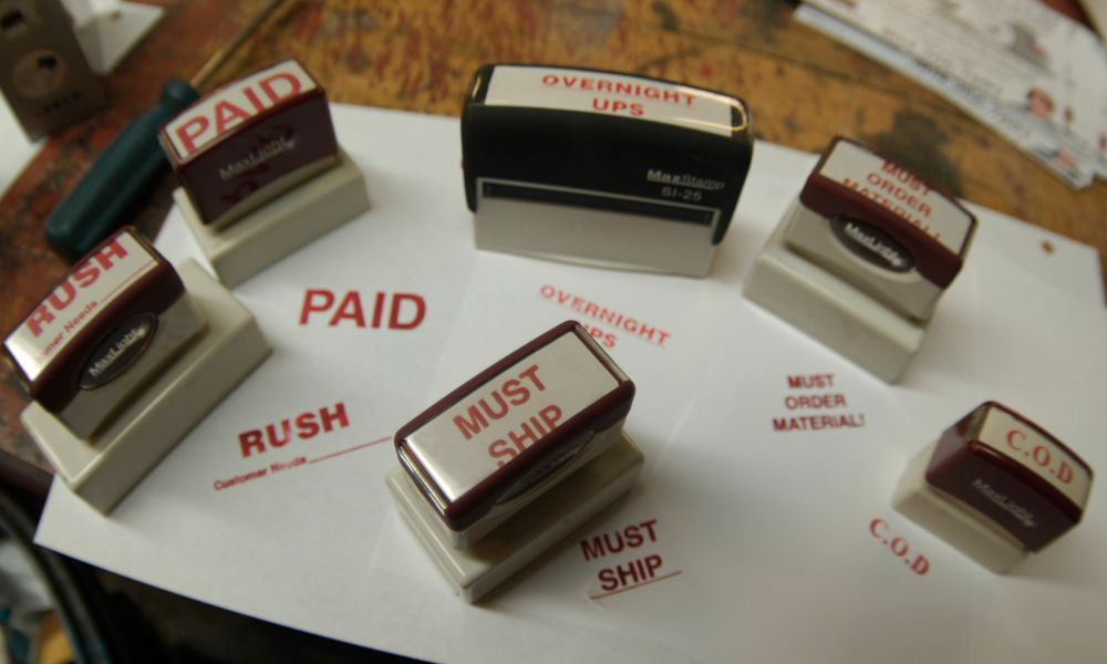 rubber ink stamps