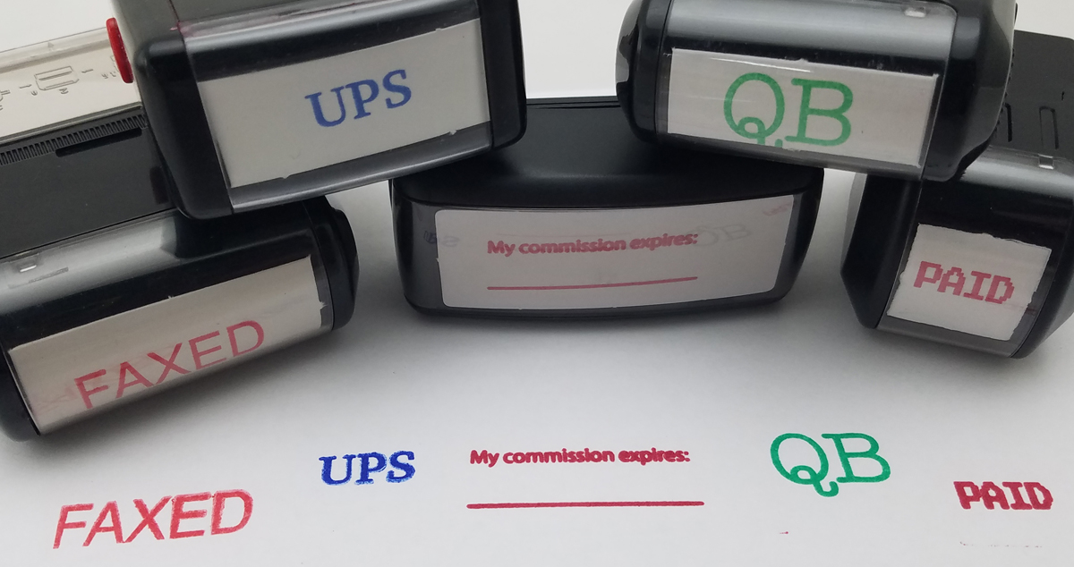 Customized Rubber Stamps
