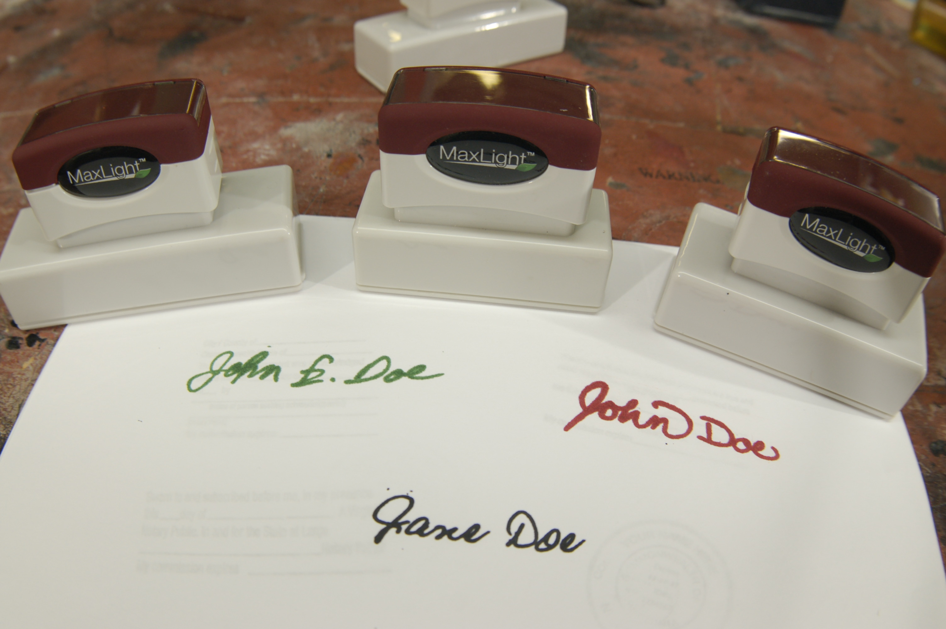 custom office supplies stamps
